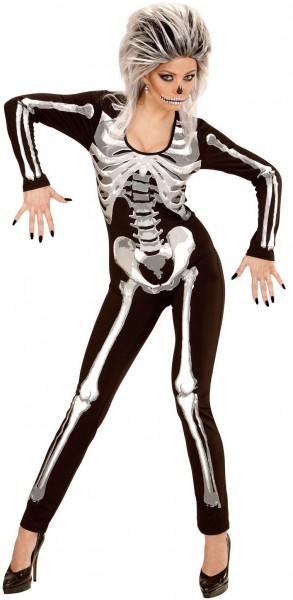 Costume tuta intera scheletro