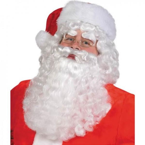 Set de peluca y barba disfraz de Papá Noel