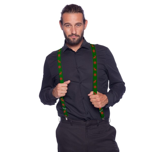 Hosenträger Xmas grün