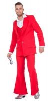 70er-Jahre Disco-Anzug Rot