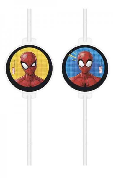 4 Spiderman team up straws