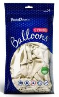 10 Partystar metallic Ballons weiß 30cm