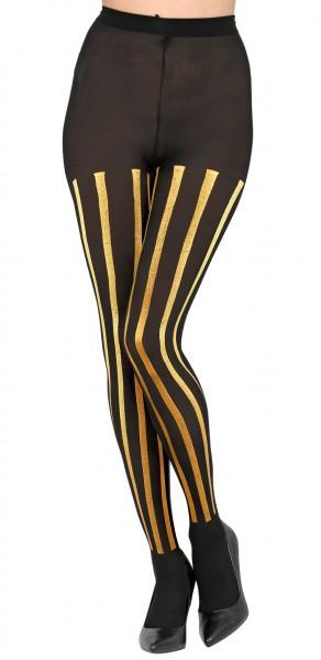 Goldene Streifen Strumpfhose