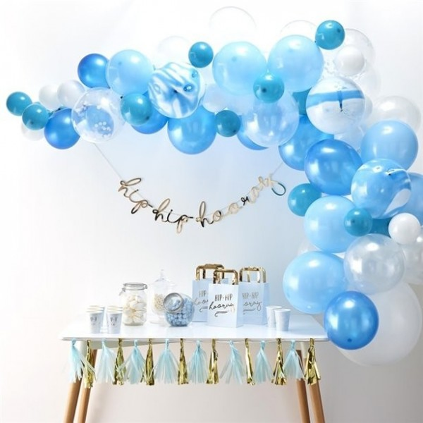 Blue balloon arch summer sky