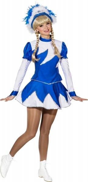 Tanzmariechen Damenkostüm Blau