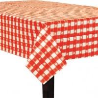 Karierte Blümchen Tischdecke 2,74 x 1,37m