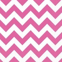 20 Süße Zacken Servietten pink