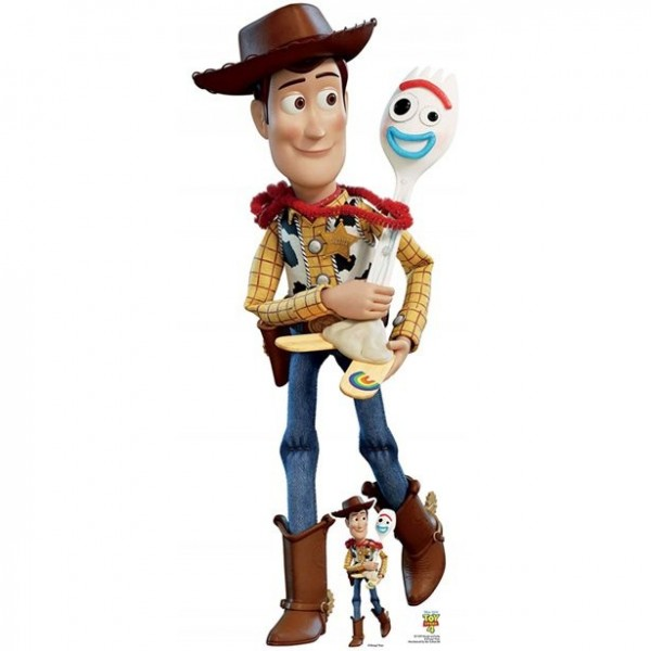 Toy Story 4 - Woody & Forky Pappaufsteller 1,64m