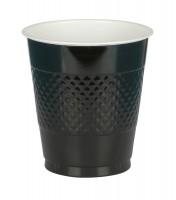 20 Plastikbecher schwarz 355ml