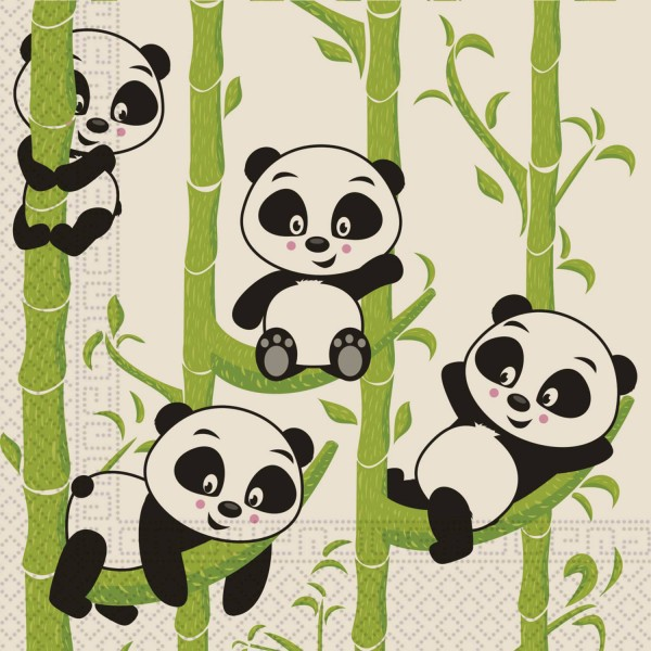20 Panda Eco Servietten 33cm