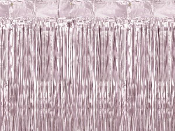 Cortina de oropel rosa 90cm x 2,5m