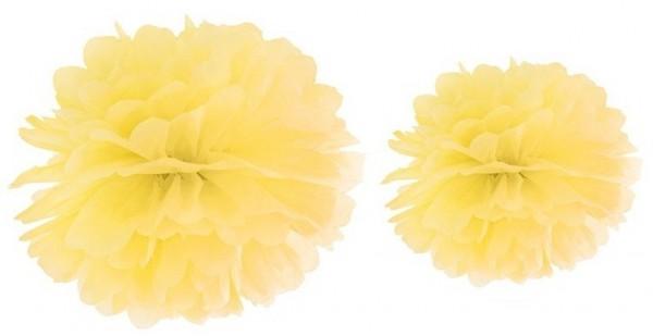 Pompon Romy amarillo limón 35cm
