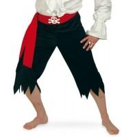 Fransige Piratenhose mit Gürtel Herren