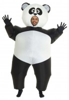 Aufblasbares Mega Panda Kostüm