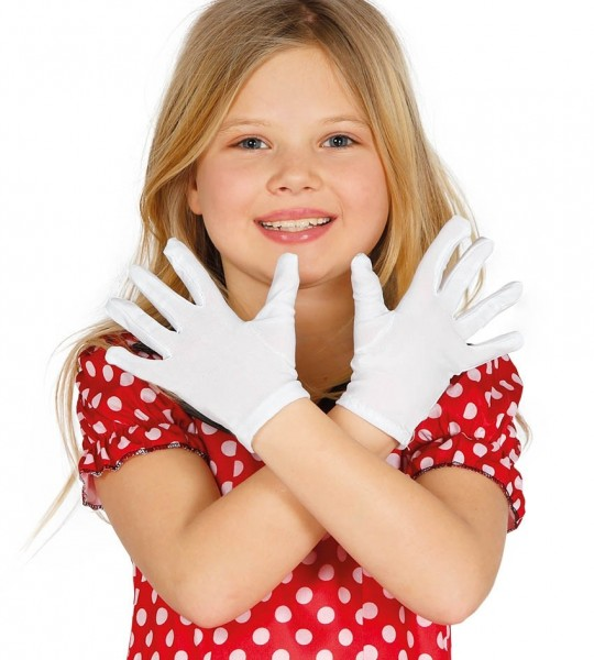 Białe rękawiczki dla dzieci