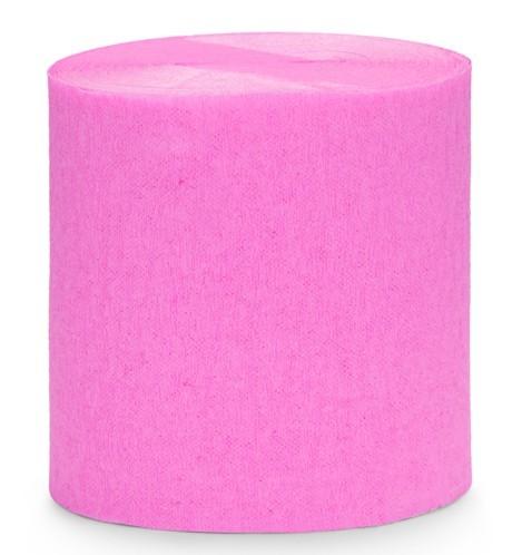 Papel crepé rosa de 10 m, 4 partes