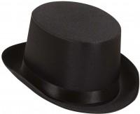 Schwarzer Zylinder Hut Aus Satin