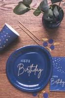 Happy Birthday Folienballon Elegant blue