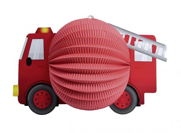 Feuerwehrauto Laterne Firefighter Motiv 20cm