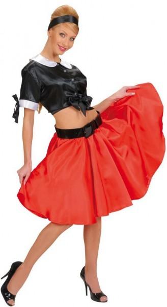 570a42e36e221b Roter 50er Jahre Rock Mit Petticoat | Party.de