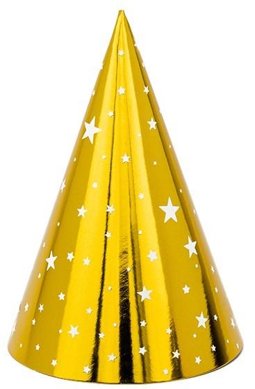 6 VIP New Year Partyhüte 16cm