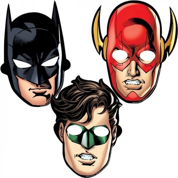 8 masques de fête de super-héros