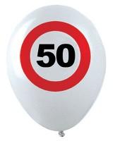 12 Verkehrsschild 50. Geburtstag Luftballons
