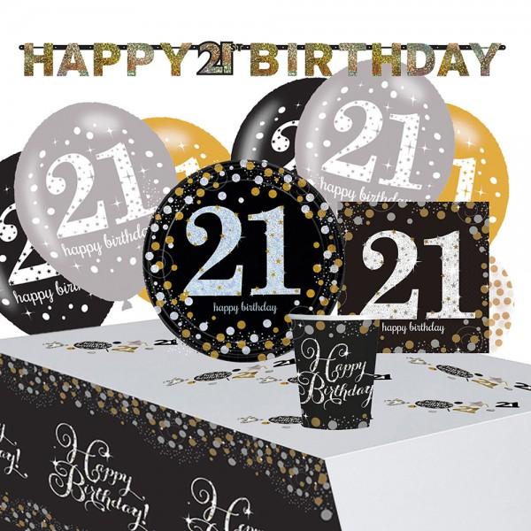 Dorato 21 ° compleanno Deco Set 41 pezzi