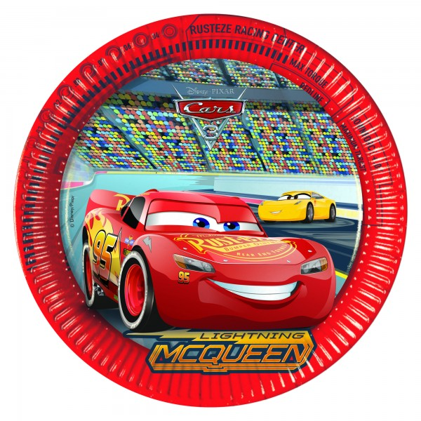 Cars 3 Evolution Runder Pappteller 23cm