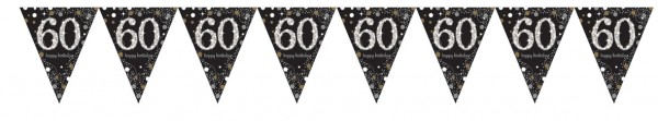 Golden 60th Birthday pennant chain 4m
