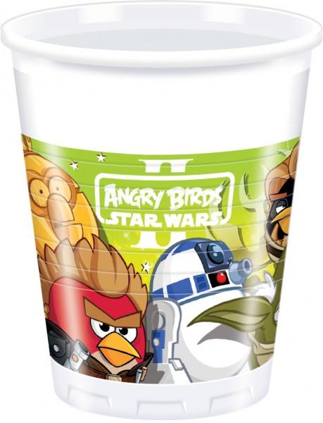 8 Angry Birds Star Wars Becher 200ml