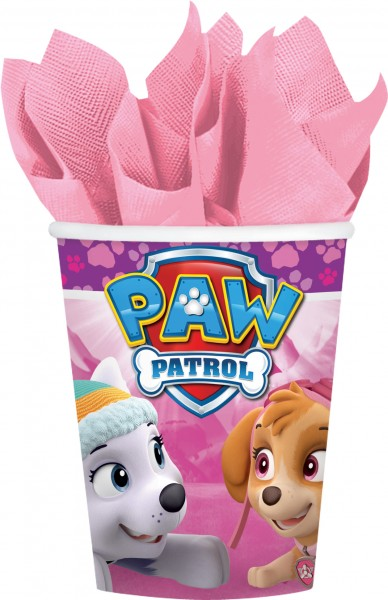 8 gobelets en papier La Pat' Patrouille Girls 266 ml