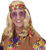 Klassische Hippie Perücke Blond