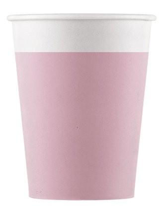 8 vasos de papel FSC Paganini rosa 200ml