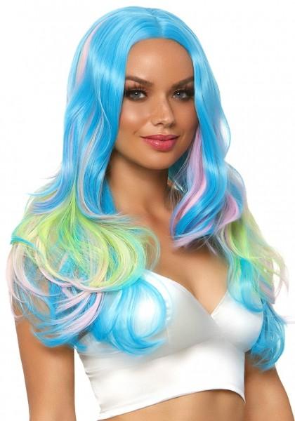 Farbenfrohe Fantasie Perücke für Damen