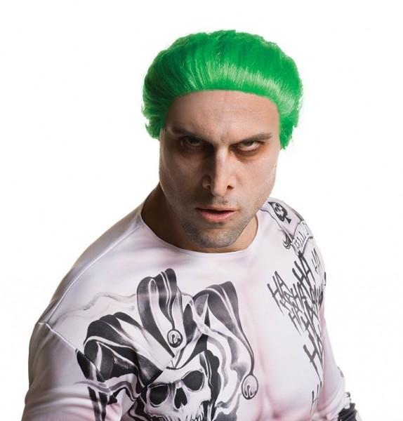 Neongrüne Joker Suicide Squad Perücke