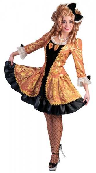 Schwarz-Goldenes Damenkostüm Im Barockstil