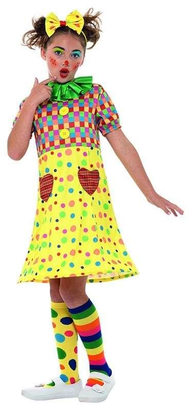 Kunterbuntes Clown Kostum Fur Madchen Party Ch