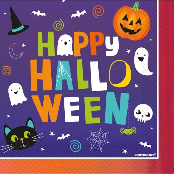 16 serviettes Happy Halloween 33cm