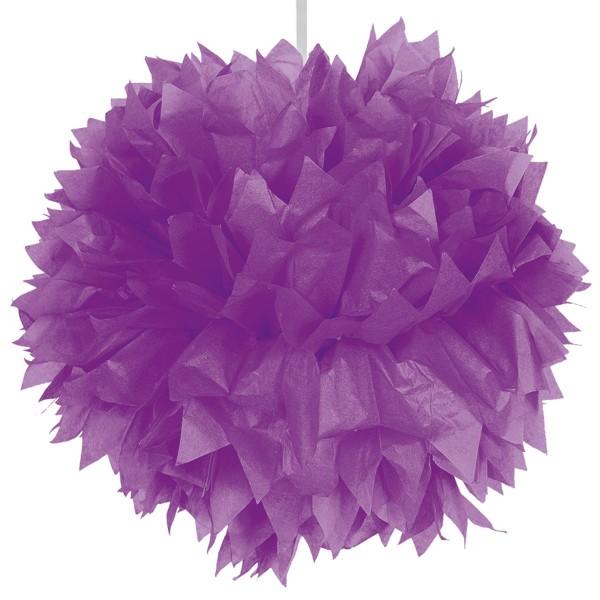 Paper pompom purple 30cm