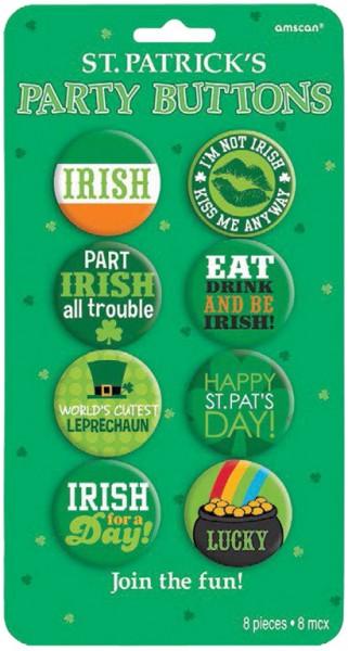 8 St. Patricks Day Buttons