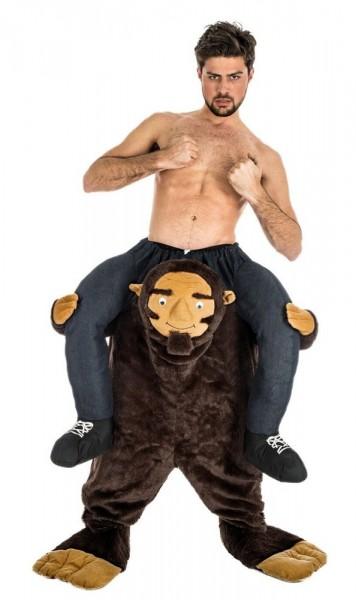 Sterk piggyback-kostuum met aap