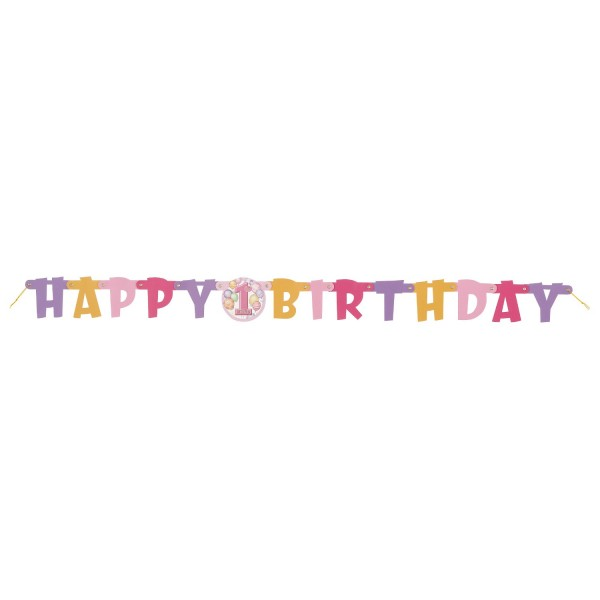 Pink Balloon Birthday Party Girlande