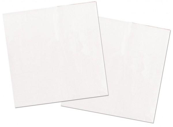 20 Servietten Cleo weiß 33 x 33cm