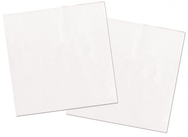 20 servietter Cleo hvid 33 x 33 cm