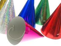 Vorschau: 20 Holografische Partyhüte 17cm