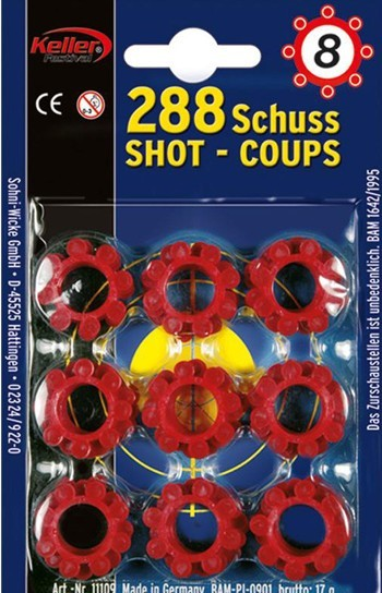 Platzpatronen-Set 288 Schuss