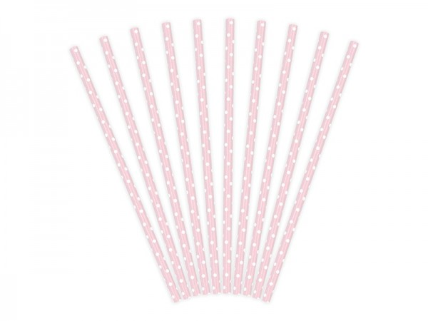 10 dot-straws in old rose 19,5cm