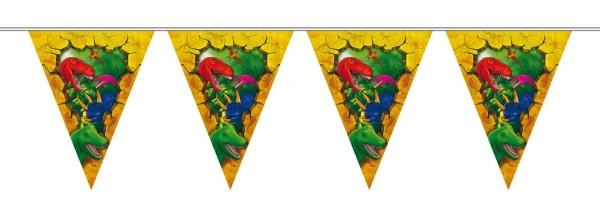 Guirlande de fanions Dino Aventure 6m