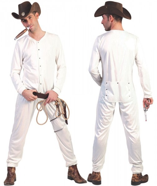 White jumpsuit for cowboys to wear underneath